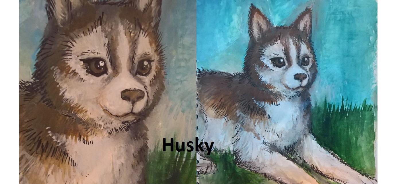 Husky dog – Inktober