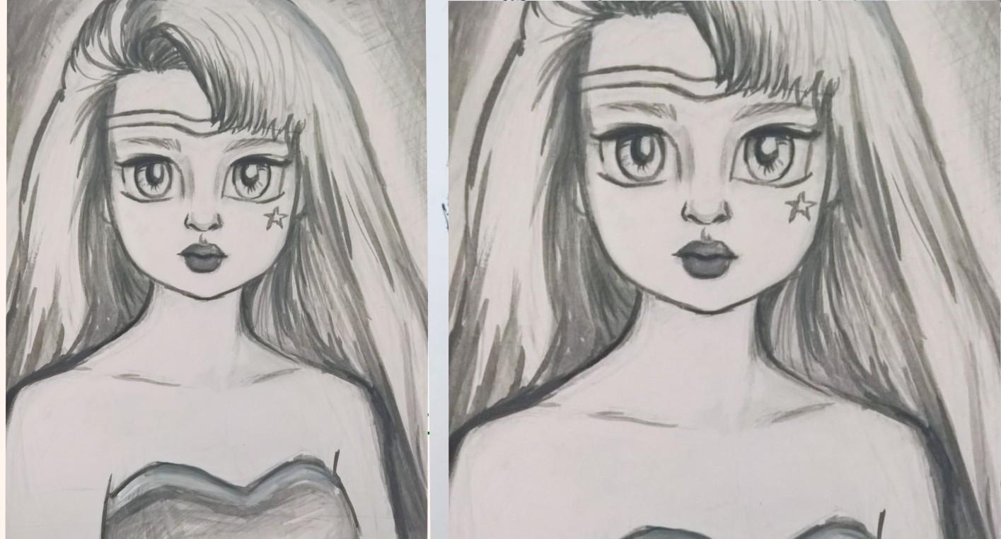 Superhero [Ink drawing]